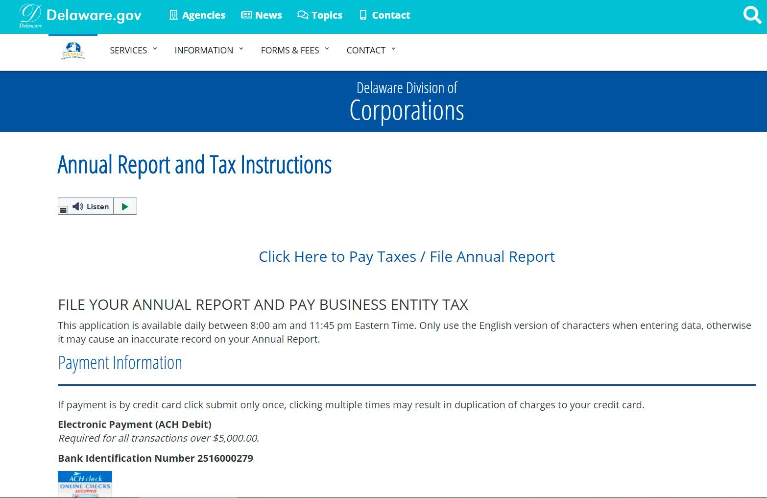 DE annual report